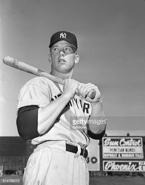 Mickey Mantlewho many experts believe is the greatest prospect to the diamond in a long timeis shown here in batting stanceNo less an authority than...