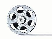 35mm movie reel on white