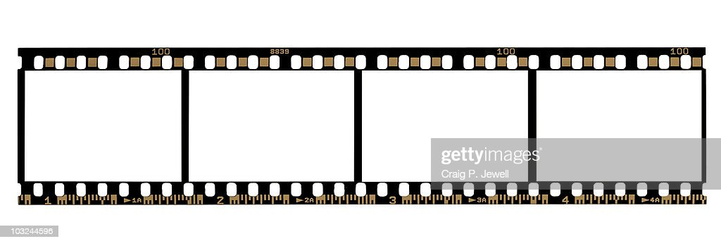 35mm Negative Film Strip (With Clipping Paths) : Stock Photo