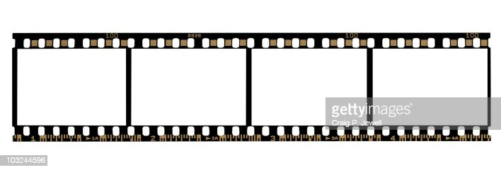 35mm Negative Film Strip (With Clipping Paths) : Foto de stock