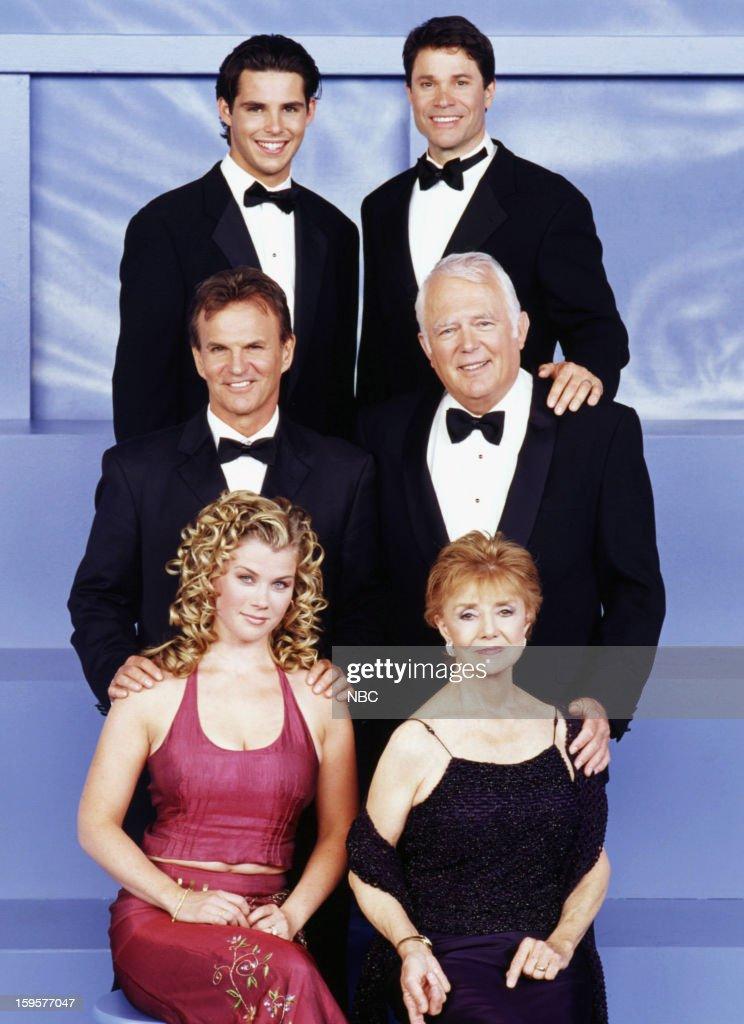 LIVES -- '35th Anniversary' -- Pictured: (top row l-r) Jason Cook as Shawn Douglas Brady, Peter Reckell as Bo Brady, (middle row l-r) Josh Taylor as Roman Brady, Frank Parker as Shawn Brady bottom row l-r) Alison Sweeney as Sami Brady, Peggy McCay as Caroline Brady --
