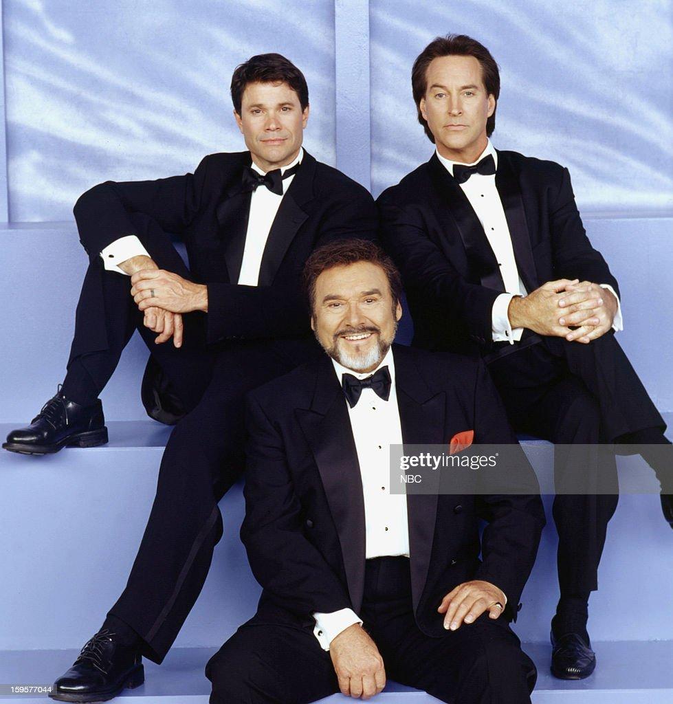 LIVES -- '35th Anniversary' -- Pictured: (l-r) Peter Reckell as Bo Brady, Joseph Mascolo as Stefano DiMera, Drake Hogestyn as John Black --