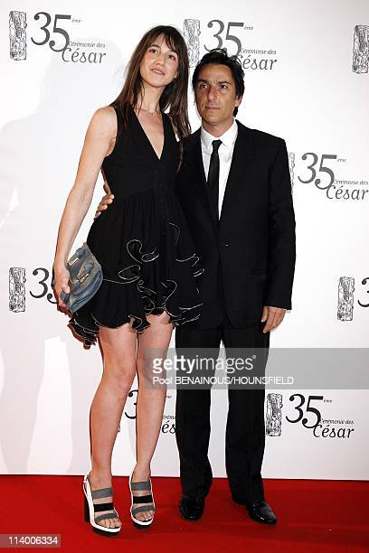 35th Cesar Awards Ceremony Arrivals In Paris France On February 27 2010Charlotte Gainsbourg Yvan Attal