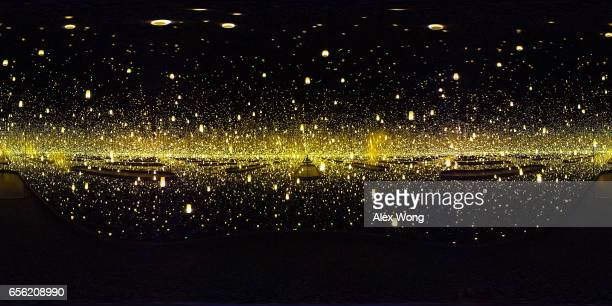 A 360degree internal view of the art piece Infinity Mirrored Room Aftermath of Obliteration of Eternity by Japanese artist Yayoi Kusama is seen at...