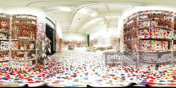 A 360degree internal view of the art piece The Obliteration Room by Japanese artist Yayoi Kusama is seen at the Hirshhorn Museum March 21 2017 in...