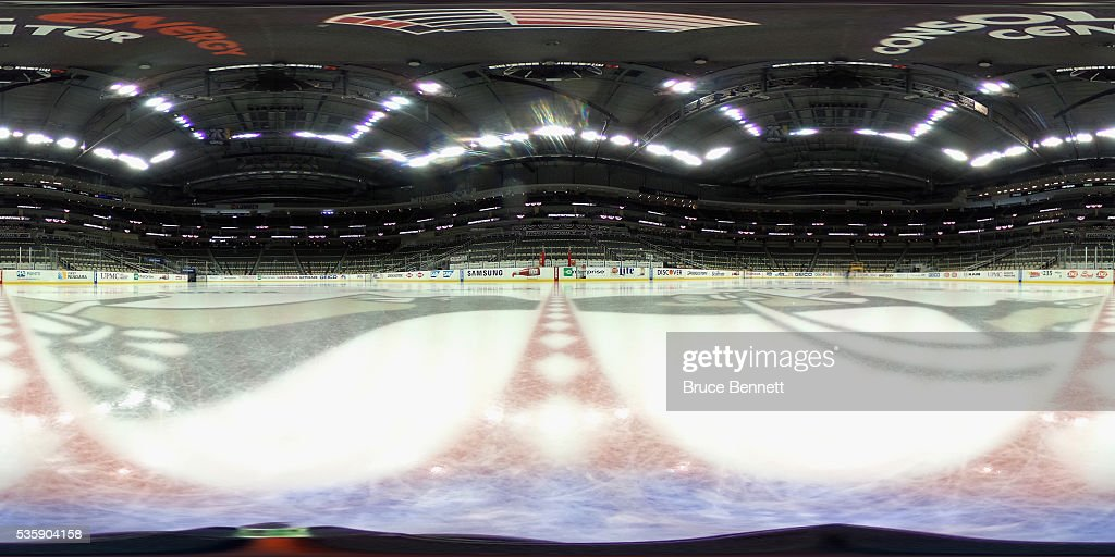 A 360-degree view of Consol Energy Center prior to Game One of the 2016 NHL Stanley Cup Final between the Pittsburgh Penguins and the San Jose Sharks on May 30, 2016 in Pittsburgh, Pennsylvania.