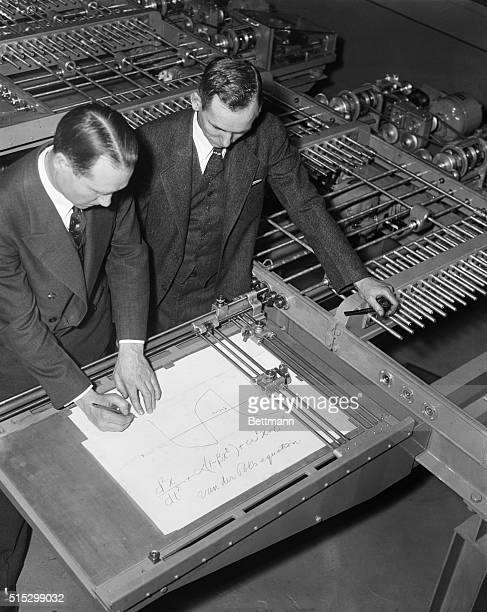 3/6/1935Philadelphia PA The world's largest supercalculating machine or 'mechanical brain' was demonstrated for the first time on Engineering and...