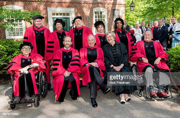 363rd Harvard Commencement Ceremony at Harvard University in Cambridge MA on May 29 2014 Seen in photos are Peter Raven Patricia King Joseph Stiglitz...