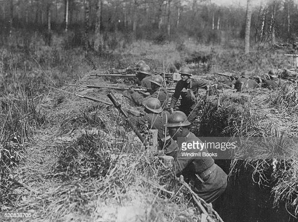 369th regiment infantry 93rd division in trenches France May 4 1918