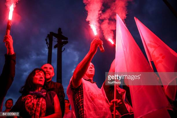 37th anniversary of the Gdansk Agreement in front of Monument to the Fallen Shipyard Workers of 1970 Gdansk Poland on 31 August 2017 The Gdansk...