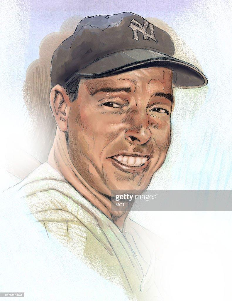 38p8 x 50p Keith Simmons color illustration of Joe DiMaggio.