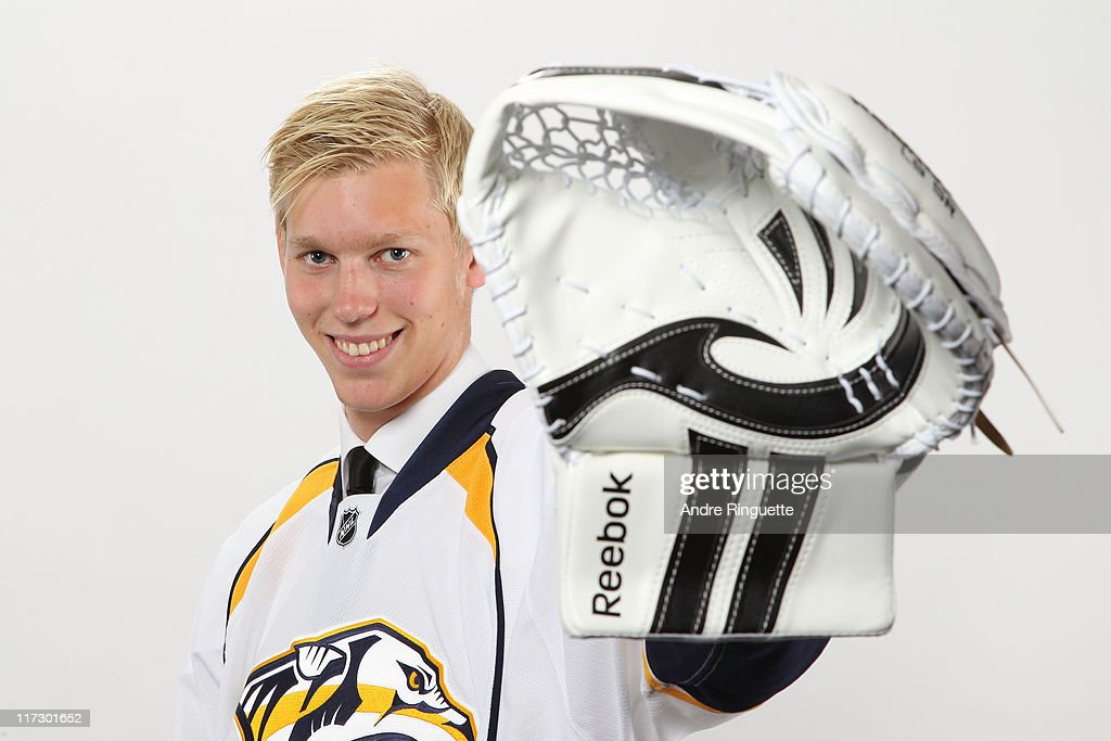 38th overall pick Magnus Hellberg by the Nashville Predators poses for a photo portrait during day two of the 2011 NHL Entry Draft at Xcel Energy Center on June 25, 2011 in St Paul, Minnesota.