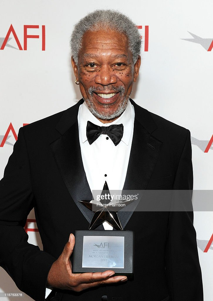 39th Life Achievement Award recipient Morgan Freeman poses at the 39th AFI Life Achievement Award honoring Morgan Freeman held at Sony Pictures Studios on June 9, 2011 in Culver City, California. The AFI Life Achievement Award tribute to Morgan Freeman will premiere on TV Land on Saturday, June 19 at 9PM