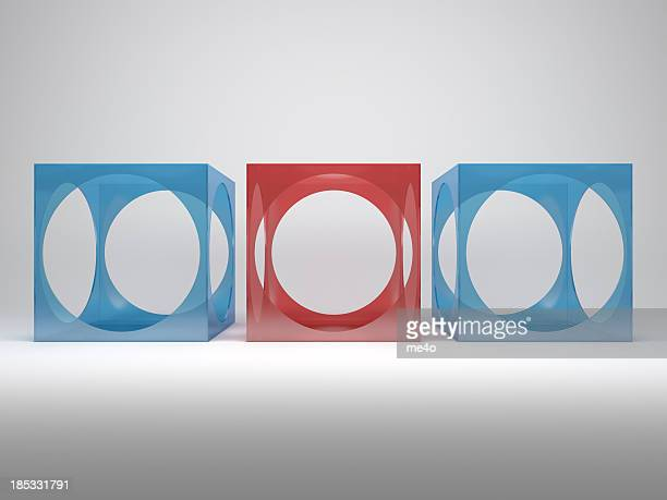 3d abstract advertisement shelves