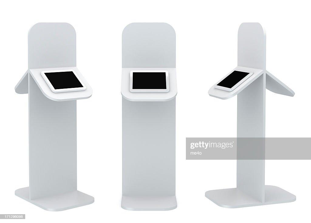 3d blank standing information podium