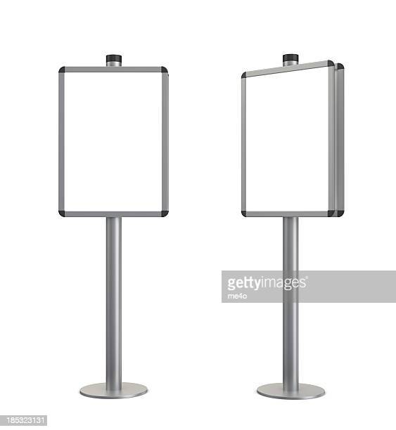 3d blank standing information stand