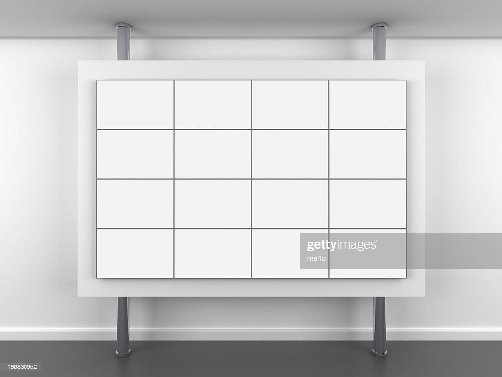 3d blank video wall stand