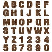 3d brown fur Font Style