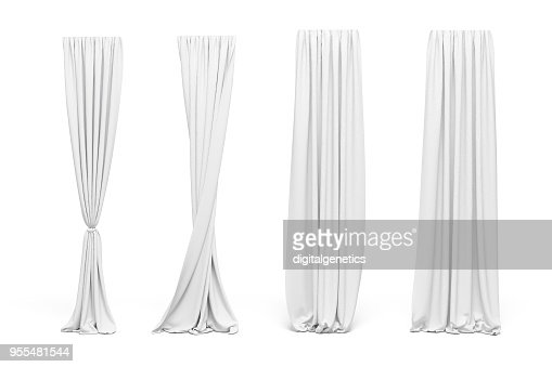 3d curtains on white background : Stock Photo