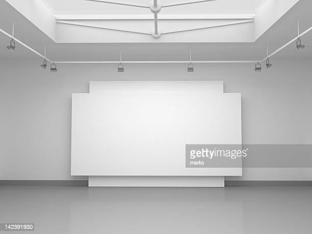 3d empty gallery space