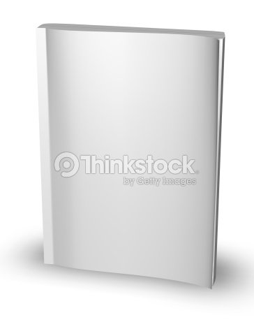 3d Empty Paper Magazine Diary Template Standing With Blank Cover Stock Photo