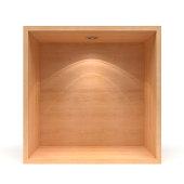 3d empty  wooden shelf