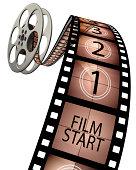 3d film leader countdown