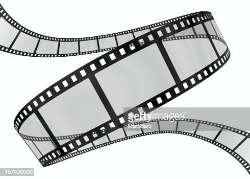 3d film spiral on white : Stock Photo