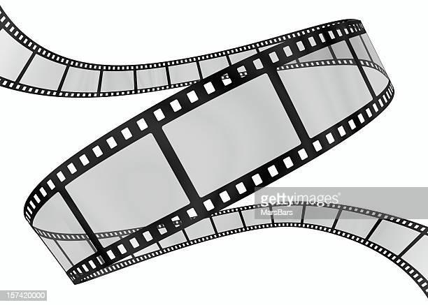 3 d film Spirale auf Weiß