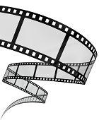 3d filmstrip on white