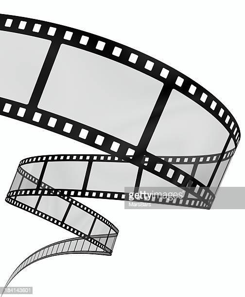 3 d filmstrip auf Weiß