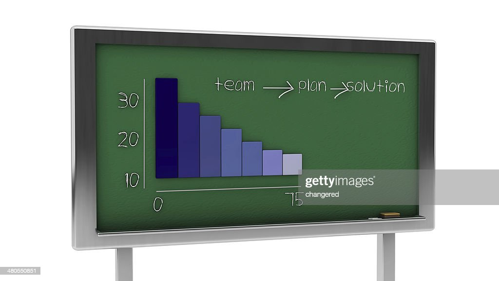 3d graphic slate : Stock Photo