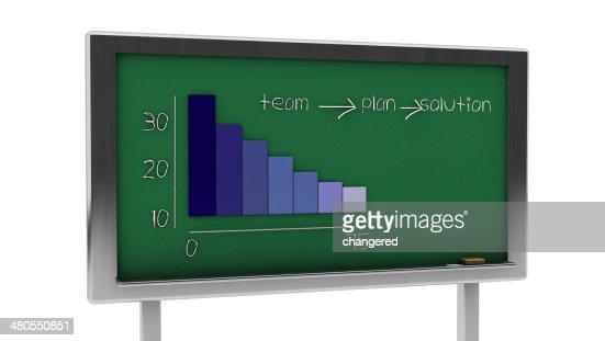 3d graphic slate : Stock Photo