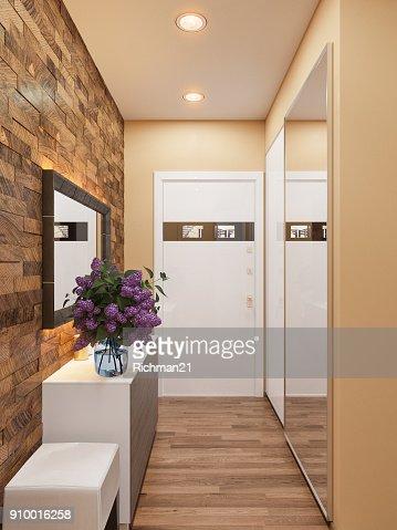 Illustration 3d De La Decoration Interieure Dun Appartement Dans Un