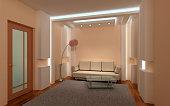 3 d intérieur confortable salle de séjour