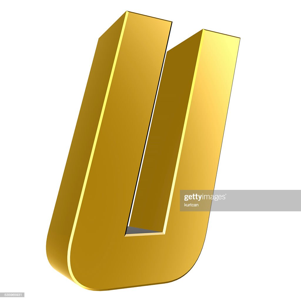 3d letter collection - U : Stock Photo