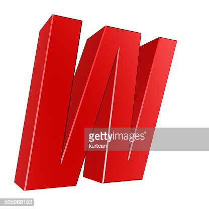 3d letter collection - W : Stock Photo