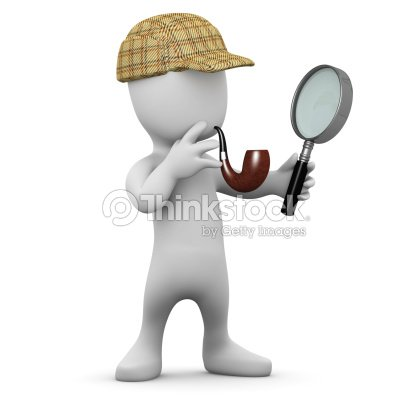 3d Little Man With Deerstalker Hat And Pipe Stock Photo ...