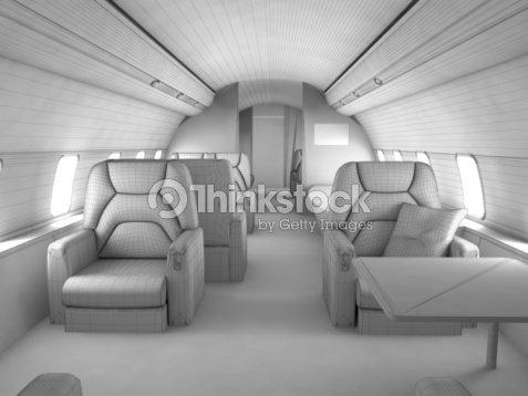 3d Model Private Plane Interior Stock Photo   Thinkstock
