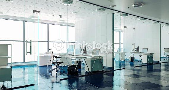 3d Moderne Buro Innen Render Stock Foto Thinkstock