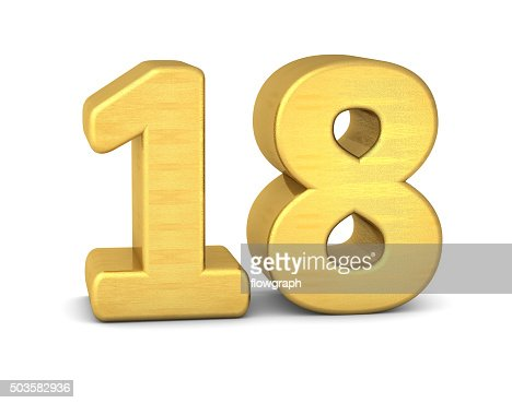 3d number 18 gold stock photo thinkstock