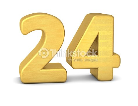 3d Number 24 Gold Stock Photo | Thinkstock