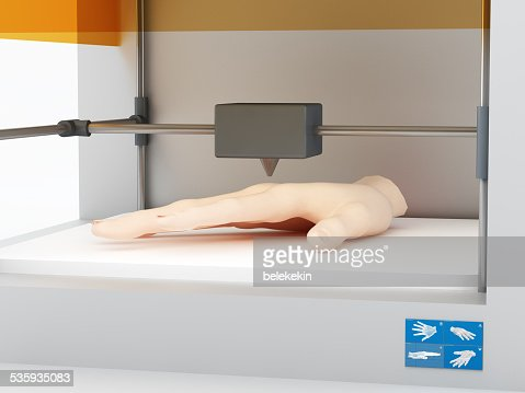 3d printed human hand : Stock Photo