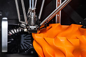 3d printing technology, three-dimensional printer close up