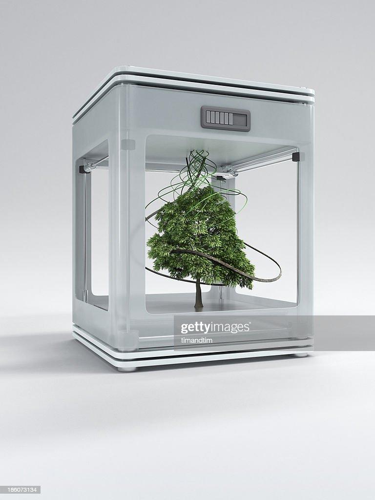 3d printer printing a tree : Stock Photo