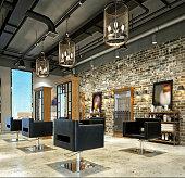 3d render of hairdressing saloon