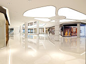 3d render of shopping mall interior