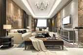 3d rendering interior and exterior design