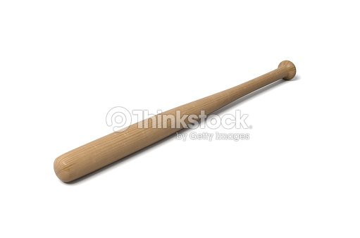 Rendering Of A Single Wooden Baseball Bat With Polish Finishing Isolated On White Background