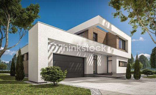 3d rendering of modern cozy house : Stock Photo